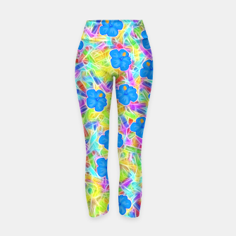 Hawaiian Blue Flowers Yoga Pants thumbnail image