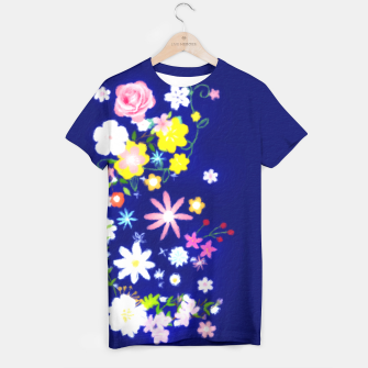 Miniatur Flower Power Painting  T-shirt, Live Heroes