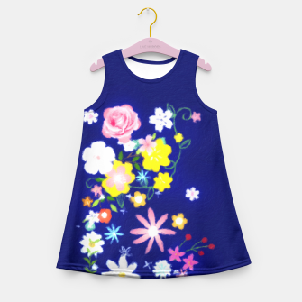 Miniatur Flower Power Painting  Girl's Summer Dress, Live Heroes