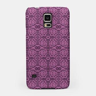 """Thumbnail image of """"Pink helices"""" pattern in pink & purple Samsung Case, Live Heroes"""