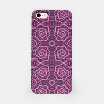 """Thumbnail image of """"Pink helices"""" pattern in pink & purple iPhone Case, Live Heroes"""