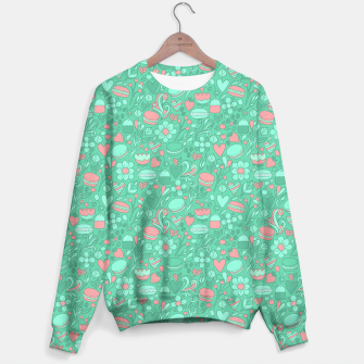 Miniaturka Macaroons and flowers Sweater, Live Heroes