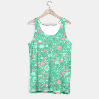 Miniaturka Macaroons and flowers Tank Top, Live Heroes