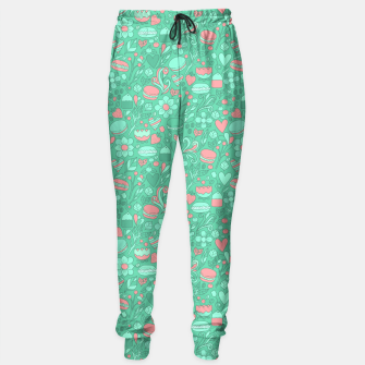 Miniatur Macaroons and flowers Sweatpants, Live Heroes