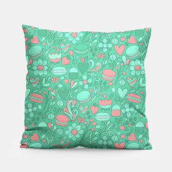 Thumbnail image of Macaroons and flowers Pillow, Live Heroes