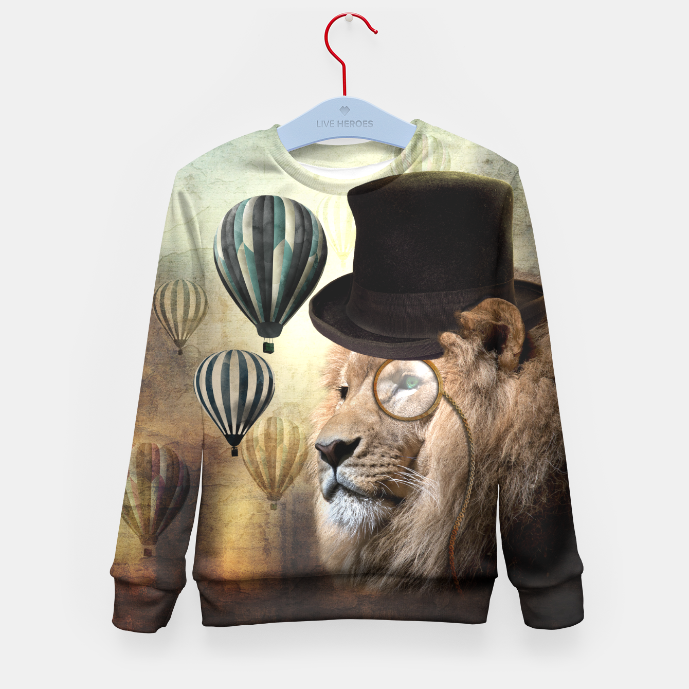 Image de Sir Edgard Blackwood [Steampunk Animals] Enfantin Sweat-shirt - Live Heroes