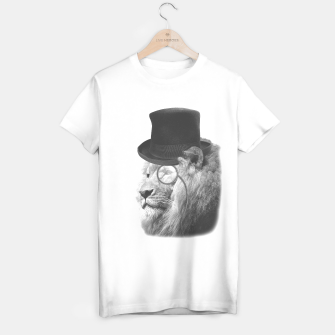 Sir Edgard Blackwood (Black&White) [Steampunk Animals] T-shirt régulière miniature