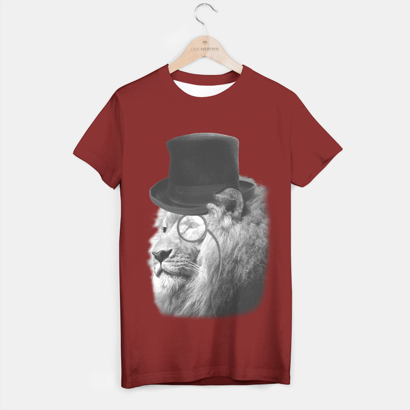 Image de Sir Edgard Blackwood (Black&White) [Steampunk Animals] T-shirt régulière - Live Heroes