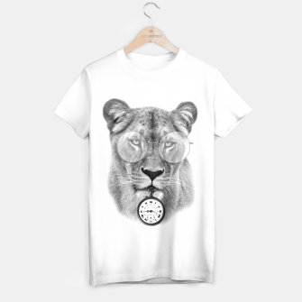 Thumbnail image of The Guardian of time (Black&White) [Steampunk Animals] T-shirt régulière, Live Heroes