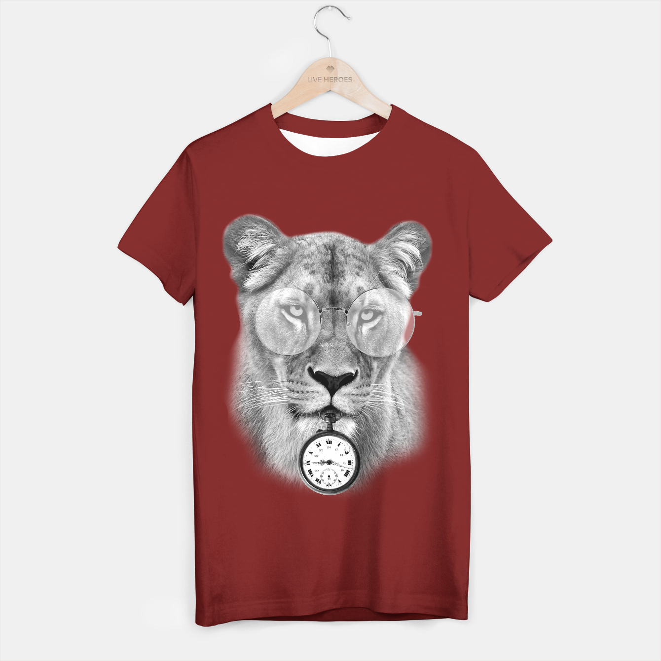 Image de The Guardian of time (Black&White) [Steampunk Animals] T-shirt régulière - Live Heroes