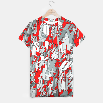 Thumbnail image of The letter matrix RED T-shirt, Live Heroes