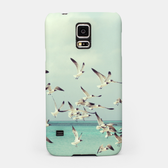Miniatur Seagulls Flying over Beach Samsung Case, Live Heroes