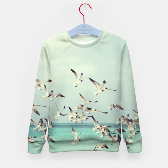 Miniatur Seagulls Flying over Beach Kid's Sweater, Live Heroes