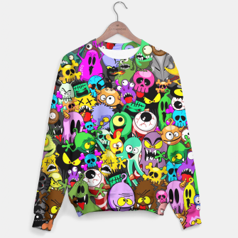 Thumbnail image of Monsters Doodles Characters Saga Sweater, Live Heroes