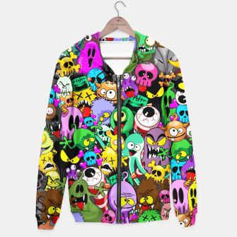 Thumbnail image of Monsters Doodles Characters Saga Hoodie, Live Heroes