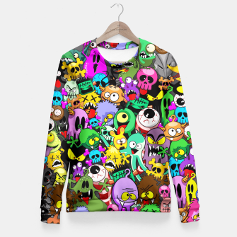 Thumbnail image of Monsters Doodles Characters Saga Fitted Waist Sweater, Live Heroes
