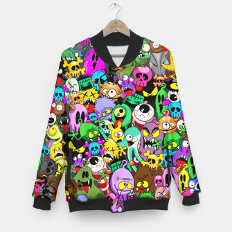 Thumbnail image of Monsters Doodles Characters Saga Baseball Jacket, Live Heroes