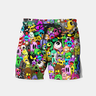 Thumbnail image of Monsters Doodles Characters Saga Swim Shorts, Live Heroes
