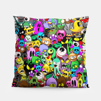 Thumbnail image of Monsters Doodles Characters Saga Pillow, Live Heroes