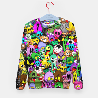 Thumbnail image of Monsters Doodles Characters Saga Kid's Sweater, Live Heroes