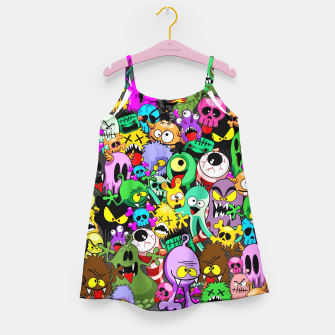 Thumbnail image of Monsters Doodles Characters Saga Girl's Dress, Live Heroes