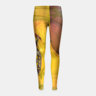 Thumbnail image of Black is beautiful Girl's Leggings, Live Heroes