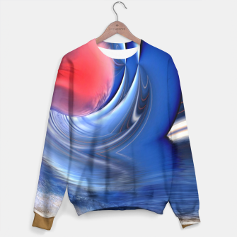 Thumbnail image of Abstract ocean wave illusion Sweater, Live Heroes