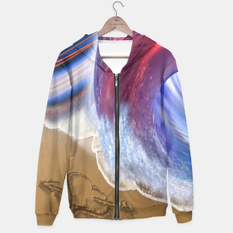 Thumbnail image of Abstract ocean wave illusion Hoodie, Live Heroes