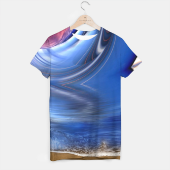 Thumbnail image of Abstract ocean wave illusion T-shirt, Live Heroes