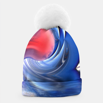 Thumbnail image of Abstract ocean wave illusion Beanie, Live Heroes