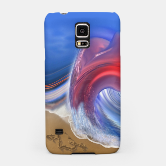 Thumbnail image of Abstract ocean wave illusion Samsung Case, Live Heroes