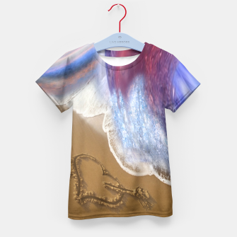 Thumbnail image of Abstract ocean wave illusion Kid's T-shirt, Live Heroes