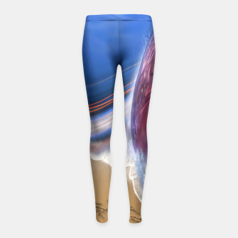 Thumbnail image of Abstract ocean wave illusion Girl's Leggings, Live Heroes