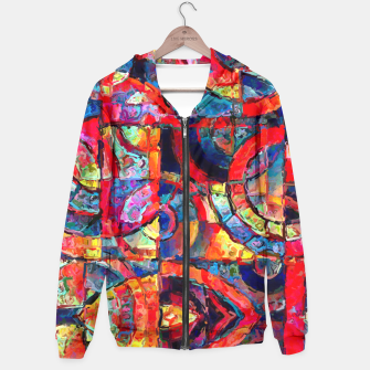 Miniatur Colorful Abstract Painting  Hoodie, Live Heroes
