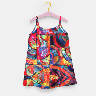 Miniatur Colorful Abstract Painting  Girl's Dress, Live Heroes
