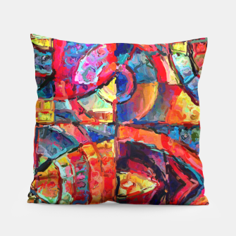 Miniatur Colorful Abstract Painting  Pillow, Live Heroes