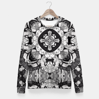 Thumbnail image of Windows of Geometry Fitted Waist Sweater, Live Heroes