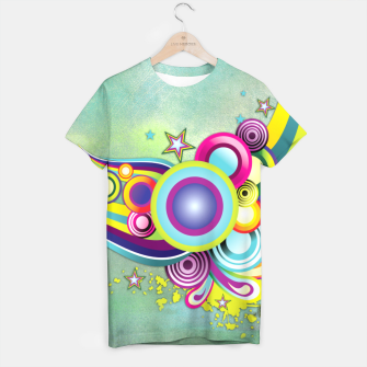 Thumbnail image of Abstract modern fantasy T-shirt, Live Heroes
