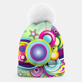 Thumbnail image of Abstract modern fantasy Beanie, Live Heroes