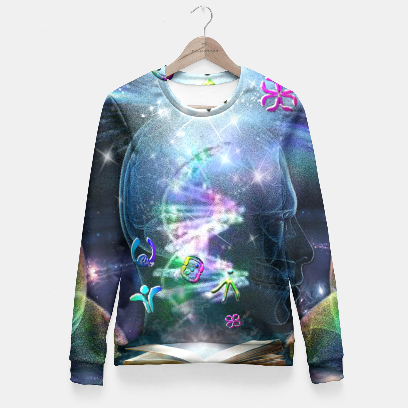 Image of Language of Light Fitted Waist Sweater - Live Heroes