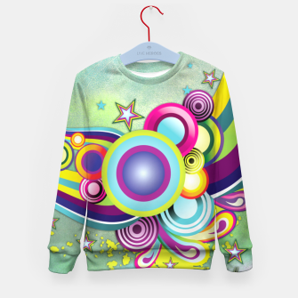 Thumbnail image of Abstract modern fantasy Kid's Sweater, Live Heroes
