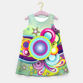Thumbnail image of Abstract modern fantasy Girl's Summer Dress, Live Heroes