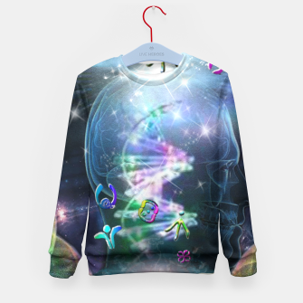 Thumbnail image of Language of Light Kid's Sweater, Live Heroes