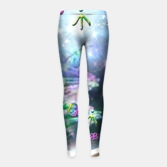 Thumbnail image of Language of Light Girl's Leggings, Live Heroes