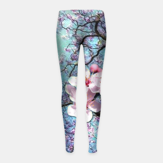Thumbnail image of Cherry blossoms Girl's Leggings, Live Heroes