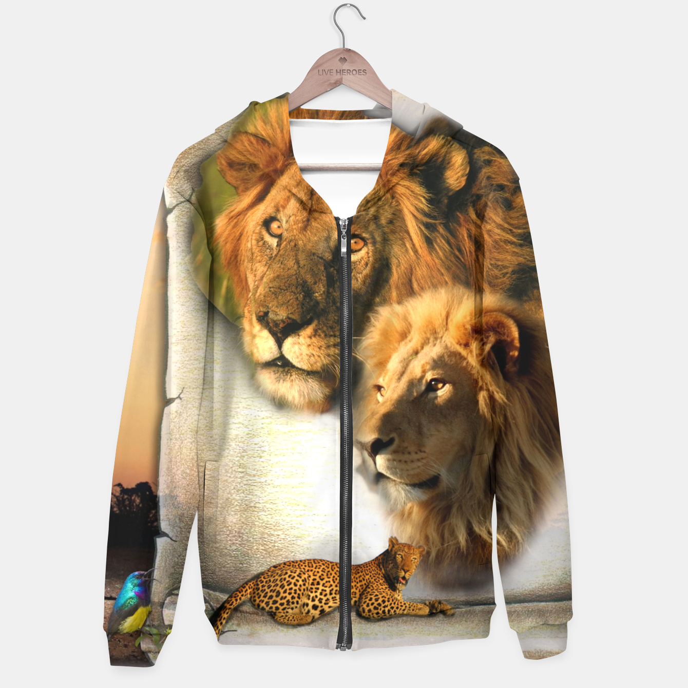 Image of Wild Animals Hoodie - Live Heroes