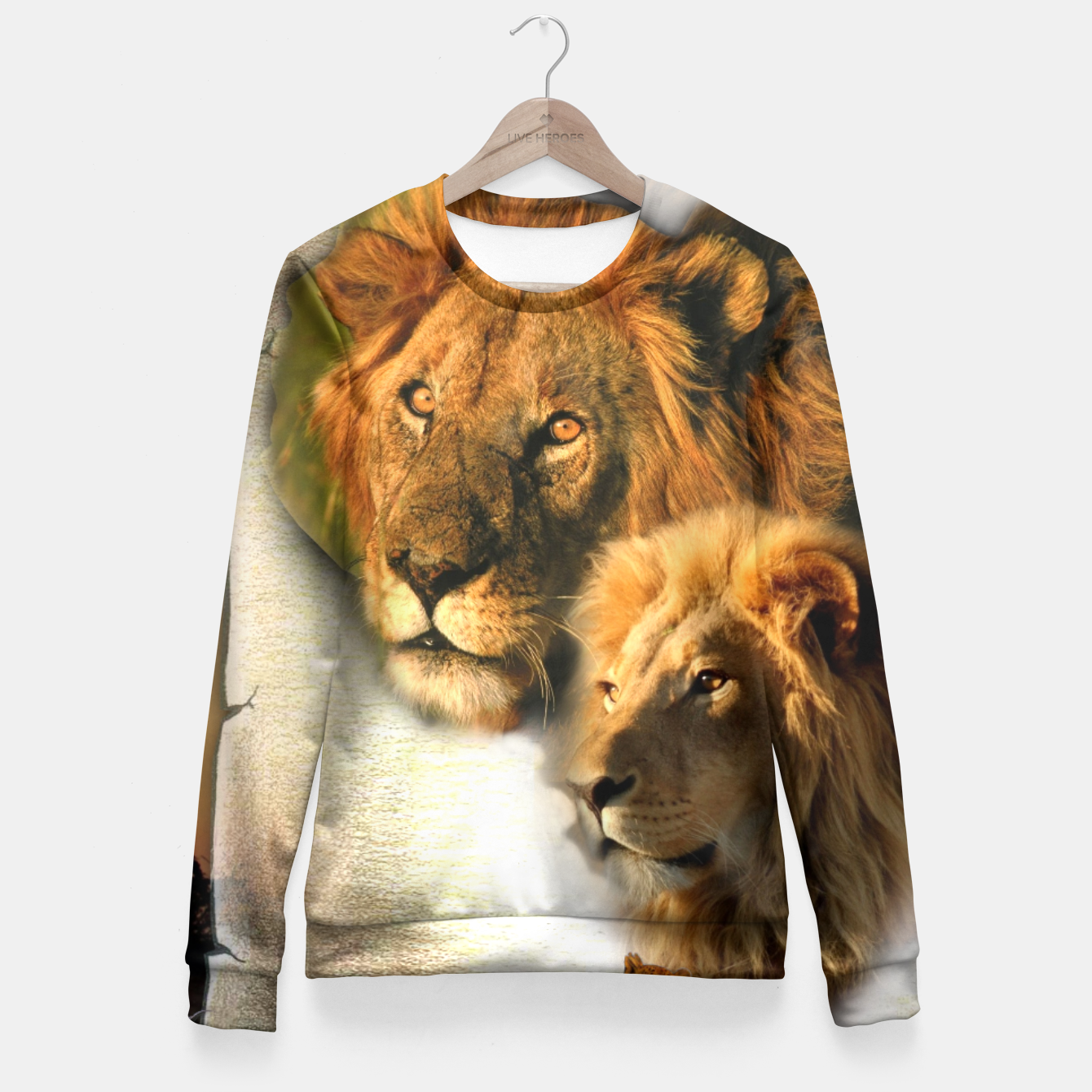 Image of Wild Animals Fitted Waist Sweater - Live Heroes