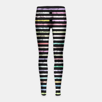 Miniatur Broken Color Girl's Leggings, Live Heroes