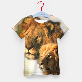 Thumbnail image of Wild Animals Kid's T-shirt, Live Heroes