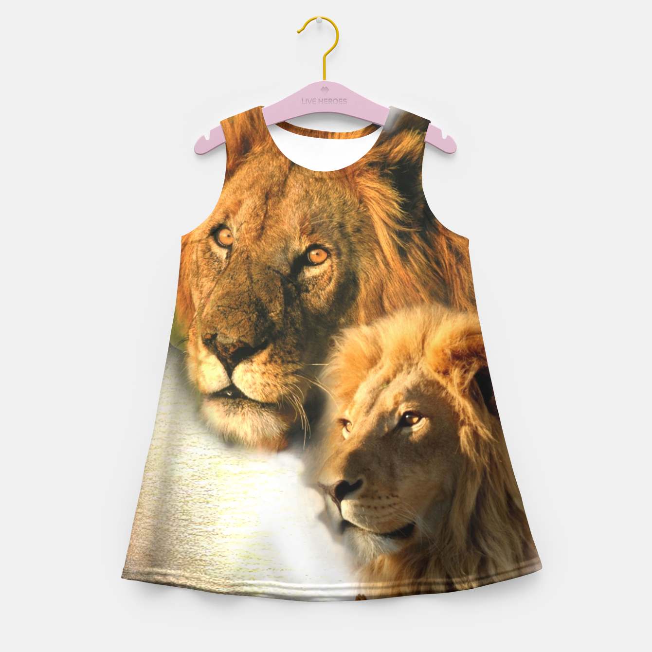 Image of Wild Animals Girl's Summer Dress - Live Heroes